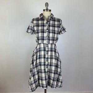 Anthropologie TYLHO-1-1 Plaid Shirt Dress